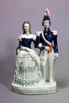 Staffordshire figure of Napoleon III and Empress Eugenie