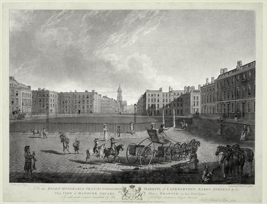 View of Hanover Square, engraved by Robert Pollard