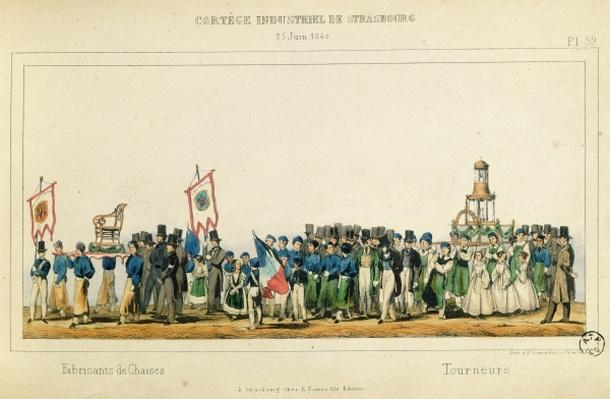 Procession of the Chair Manufacturers at Strasbourg, 25th June 1840