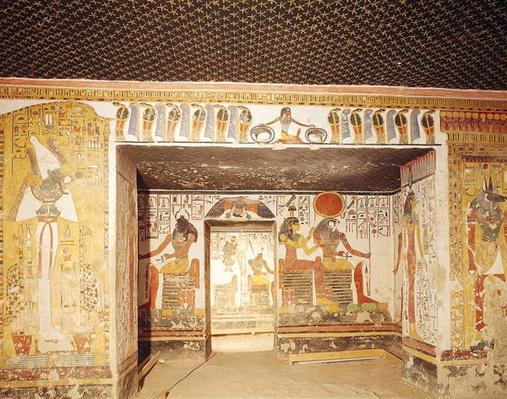 Two rooms from the Tomb of Nefertari