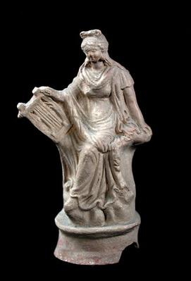 Statuette of Erato seated, from Myrina, Turkey