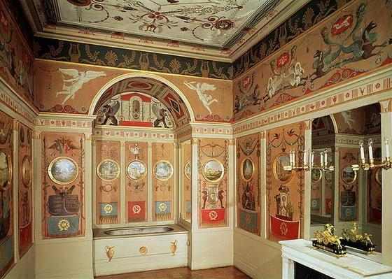 Interior of Napoleon's bathroom, built in 1807