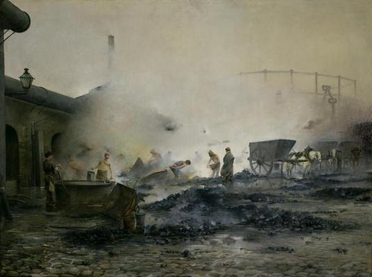 The Gas Factory at Courcelles, 1884
