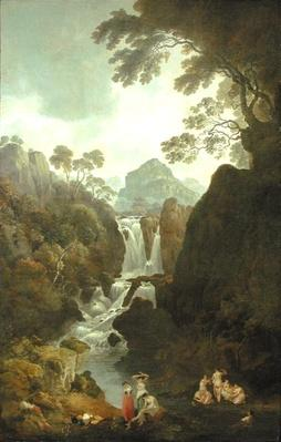 A Waterfall with Bathers, c.1800-17