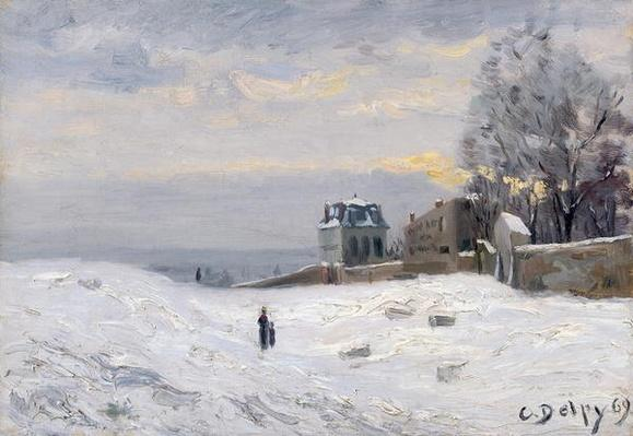 Snow at Montmartre, 1869