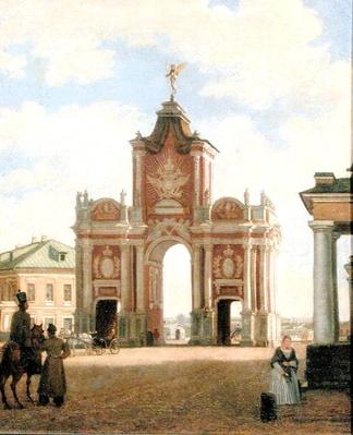 The Red Gate in Moscow, 1844