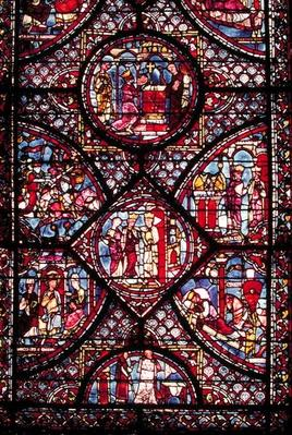 Window depicting scenes from the Life of Charlemagne