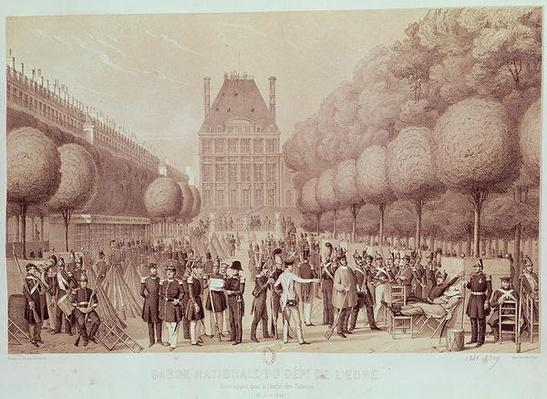 The National Guard from the Eure Camped in the Tuileries Garden, 26th June 1848