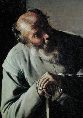 An Old Man, detail of the head, c.1618-19