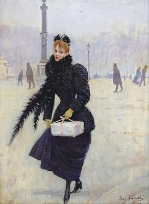 Parisian woman in the Place de la Concorde, c.1890
