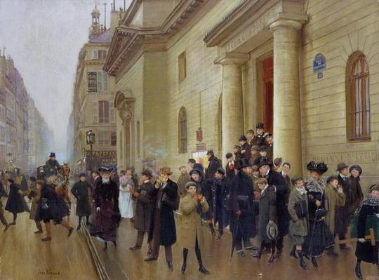 Leaving the Lycee Condorcet, 1903