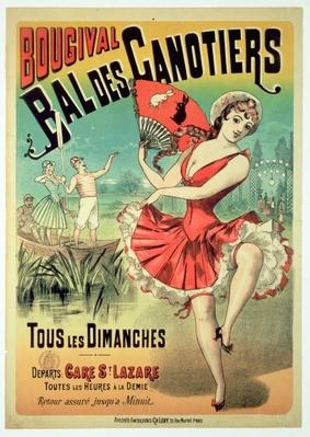 Poster for the 'Bal des Canotiers, Bougival'