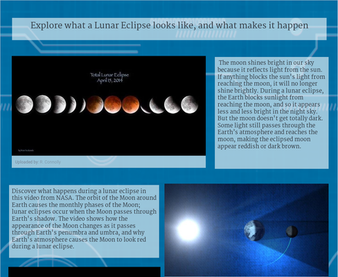 Lunar Eclipse Storyboard