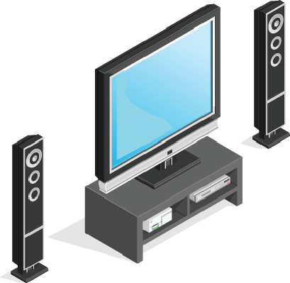 Home Entertainment DVD Player and Games Console | Clipart