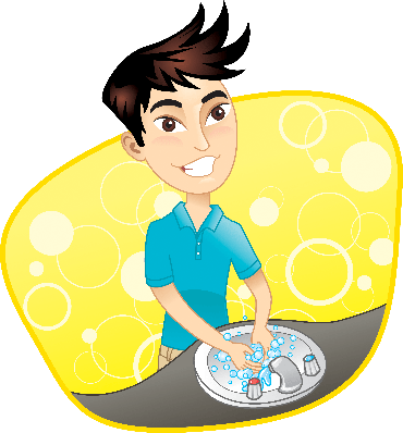 Boy Washing His Hands | Clipart