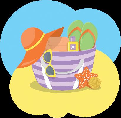 Beach Bag | Clipart
