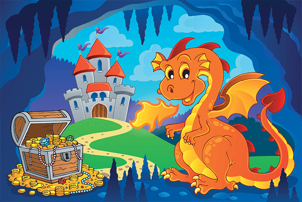 Fairy Tale Image With Dragon 7 | Clipart
