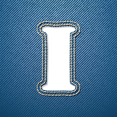Denim Jeans: Letter I | Clipart