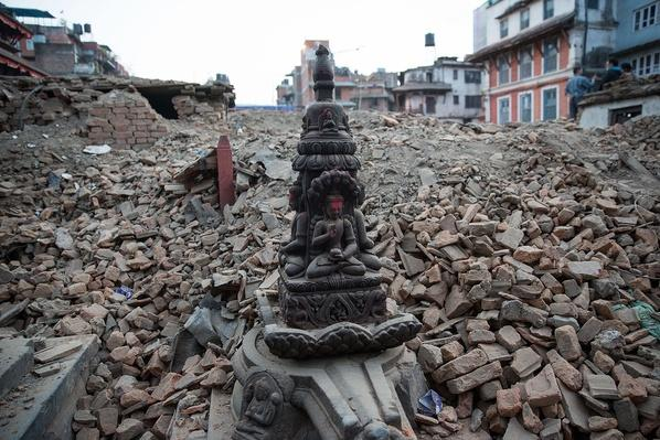 A Hindu Statue Stands Amidst Temple Ruins | Global Oneness Project