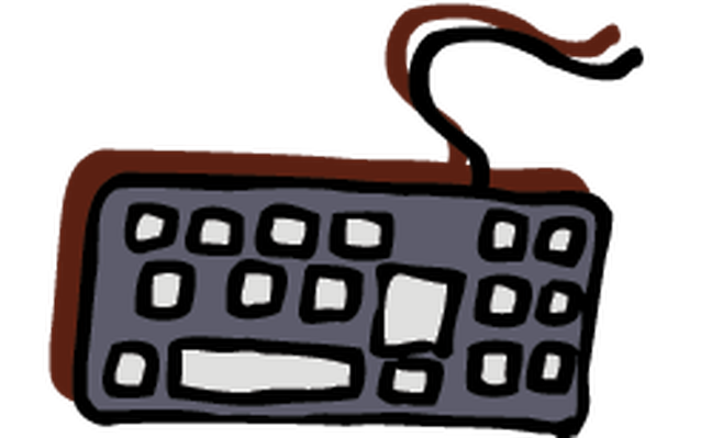 Electronics - Computer Keyboard | Clipart
