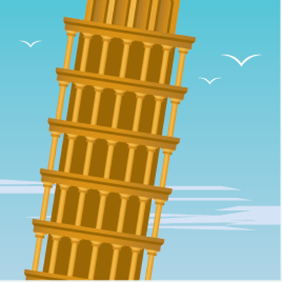 Travel Destinations - Leaning Tower of Pisa | Clipart