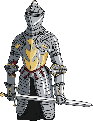 Medieval Knight with Sword | Clipart