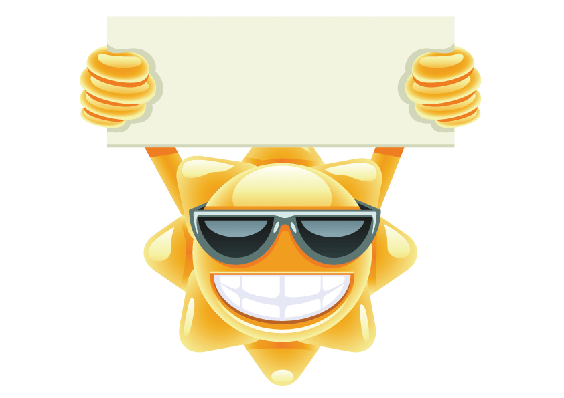 Sun With Message | Clipart