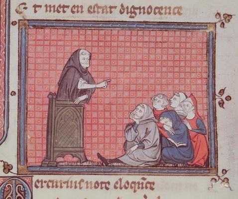 Ms 1044 fol.67 The Sermon, from Ovide Moralise written by Chretien Legouais