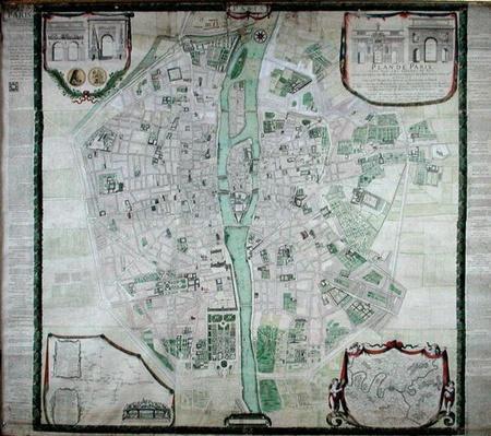 Plan of Paris, 1676