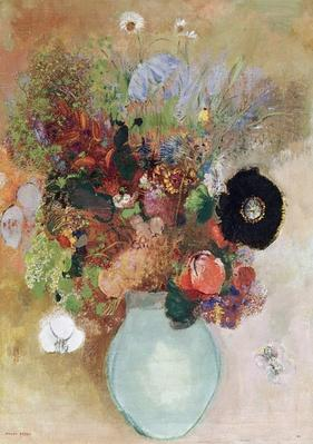 Flowers in a Green Vase, 1910 by Redon, Odilon (1840-1916)