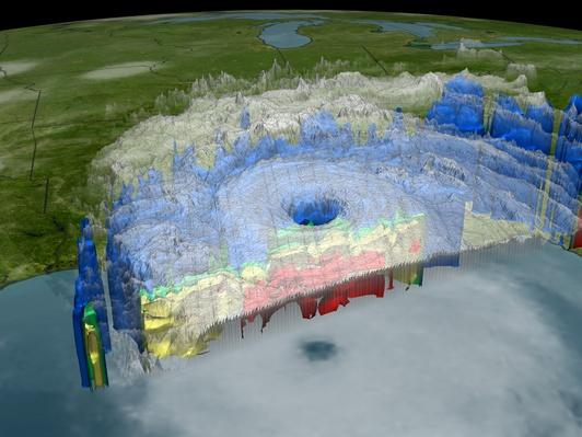 Hurricane Katrina approaching New Orleans (Digital Composite) | Natural Disasters: Hurricanes, Tsunamis, Earthquakes