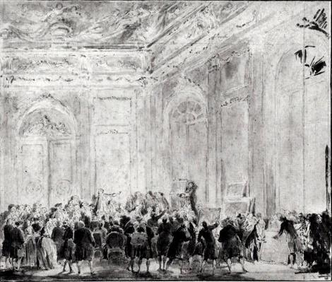 Scene with a Sale of Paintings