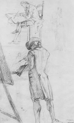 Artist at his Easel and the Artist Drawing