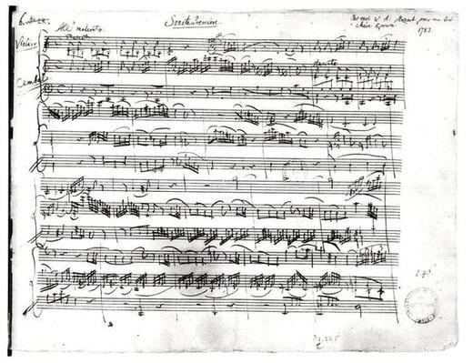 Ms.225 Sonate Premiere for violin and harpsichord in C major