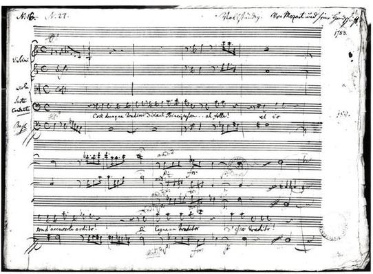 'Cosi Dunque Tradisci...', recitative and aria, 1783