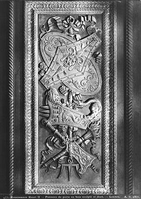 Door panel, Henri II style, c.1556