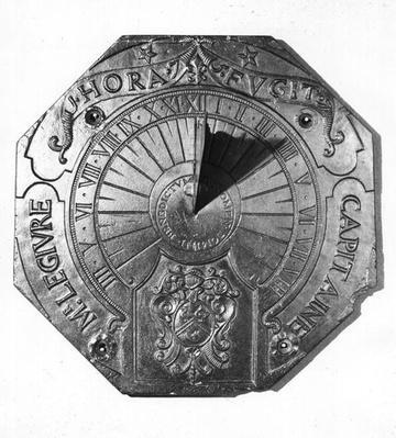 Portable Sundial, from Sierk Castle