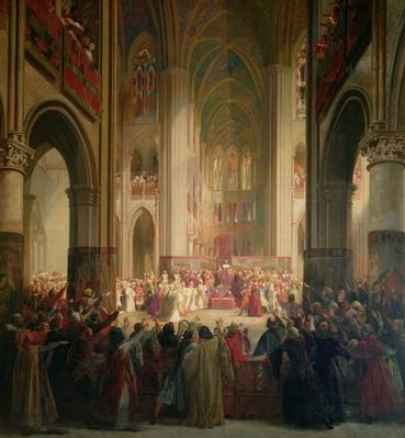 Estates General of Paris Meeting in Notre-Dame after the Death of Charles IV