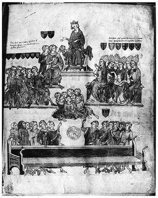 Ms.Fr. 18437 fol. 2 The Court of the Peers presided over by Philippe VI