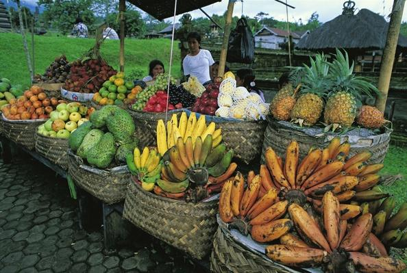 Indonesia, Bali Island, Besakhi Temple, Fruit Stall | Earth's Resources