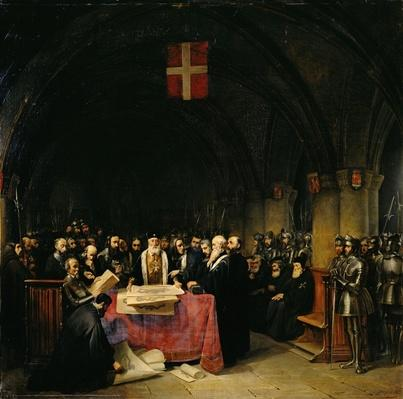 The Chapter of the Order of St. John of Jerusalem held in Rhodes in 1524, 1839