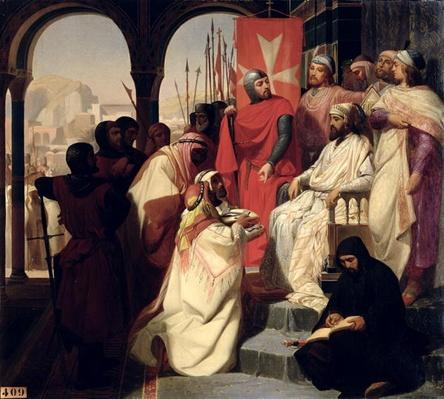 Knights of the Order of St. John of Jerusalem restoring religion in Armenia in 1347, 1844