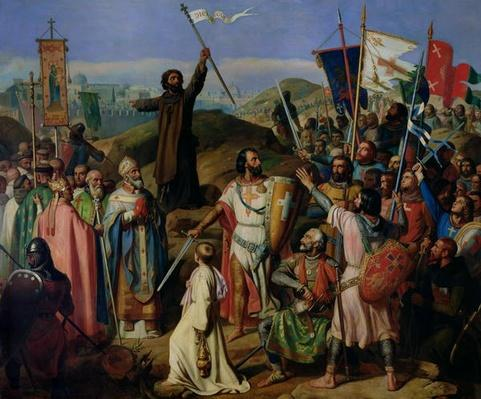 Procession of Crusaders around Jerusalem, 14th July 1099, 1841