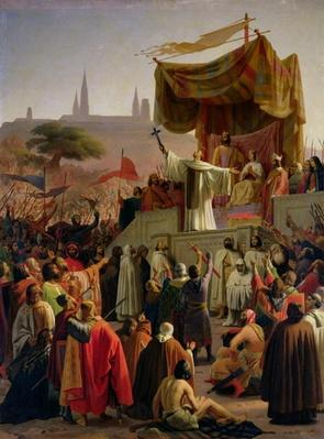St. Bernard Preaching the Second Crusade in Vezelay, 31st March 1146, 1840