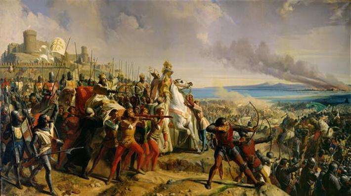 The Battle of Montgisard, 25th November 1177, c.1842