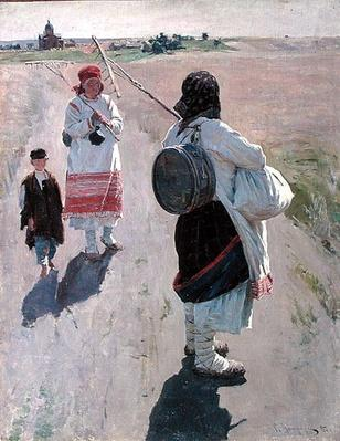 On the Way to Work, 1895