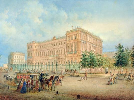 View of the Nikolayevsky Palace, St. Petersburg, 1868