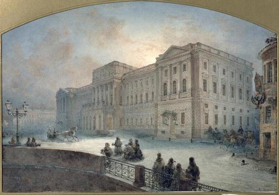 View of the Mariinsky Palace in Winter, 1863