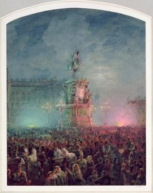 The Unveiling of the Nicholas I Memorial in St. Petersburg, 1857