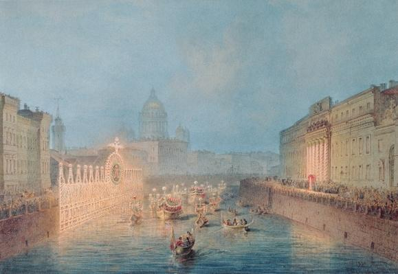 Illumination at the Moyka in St. Petersburg, 1856